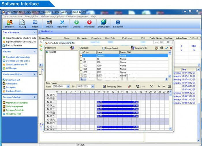 access control and time attendance management software download