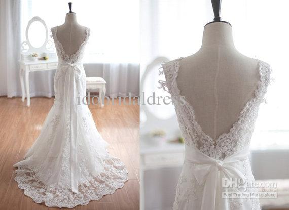 Vintage Wedding Dresses Cheap: 2015 Vintage Inspired Tulle Lace Wedding Dress Taffeta
