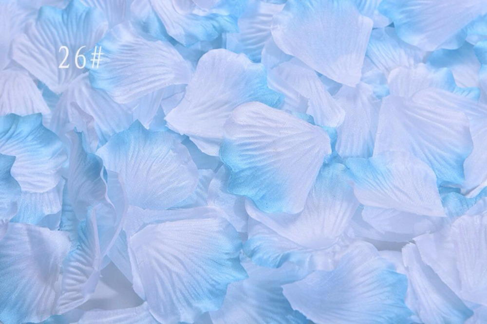 5,000pcs 4.5*4.5cm Gradient White+Sky Blue Rose Flower ...