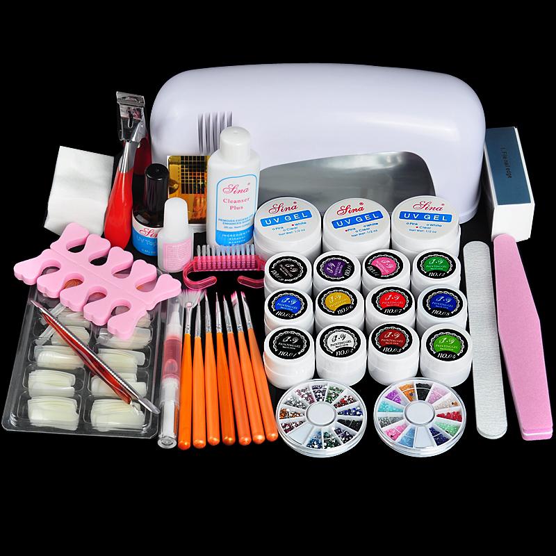 Free Shipping Professional Nail Art Kit Color Uv Gel Full: Online Get Cheap Gel Nail Kit -Aliexpress.com