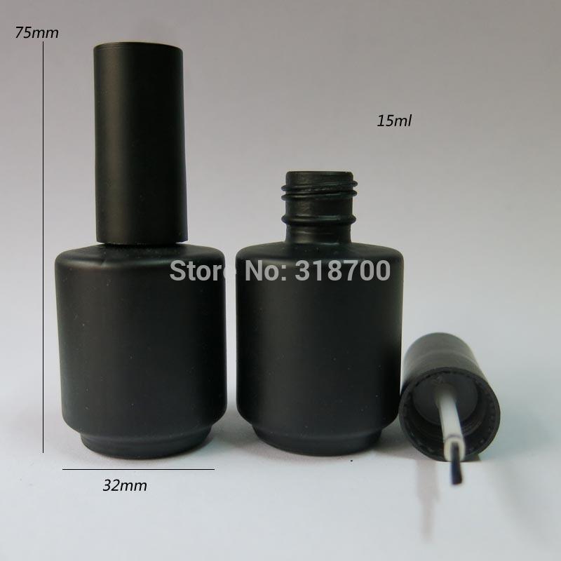 50 lot 15ml Black Empty Nail polish Bottle 15cc Black Glass nail enamel bottle