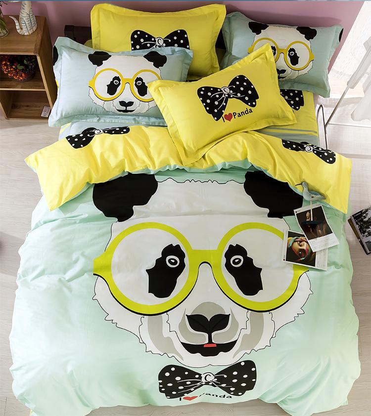 achetez en gros panda couette en ligne des grossistes panda couette chinois. Black Bedroom Furniture Sets. Home Design Ideas