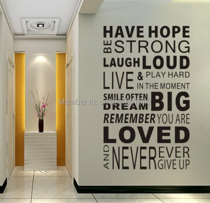 Home Decor Quote: Free Shipping Have Hope Sticker Family Rules Home Decor