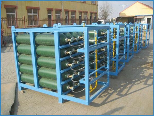 2015 Gas Cylinder Bundle Oxygen Cylinder Rack With Good