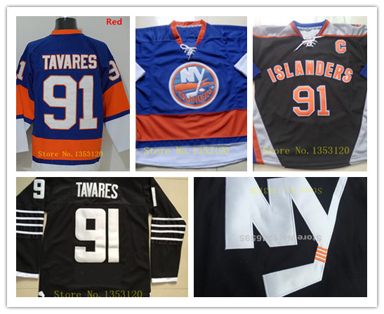 ... AliExpress John Tavares Jersey Black New York Islanders Jerseys 91  Alternate authentic NY Hockey jerseys ... 0626a41a0