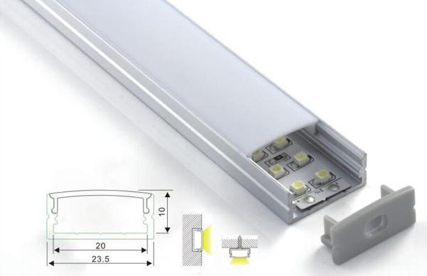 china beleuchtung led aluminium profile f r die k che kabinett dach ecke streifen licht nun. Black Bedroom Furniture Sets. Home Design Ideas