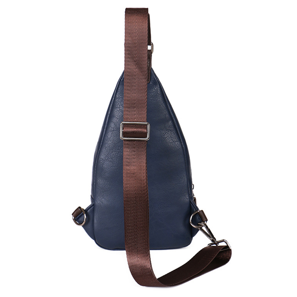 3516a4fac512 Men Chest Bag Theftproof Magnetic Button Open Leather Fashion Travel  Crossbody Bag Man Messenger