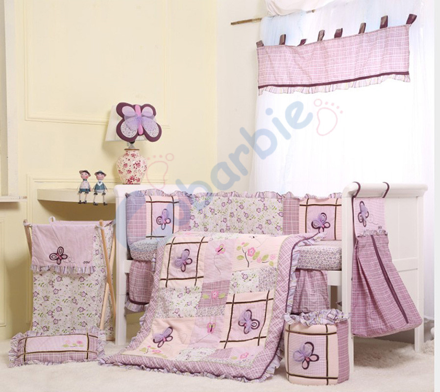 Purple Butterfly Crib Bedding Promotion Shop For