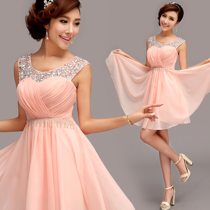 Short Evening Dress 2015 Fashion Bridal Sexy Wedding