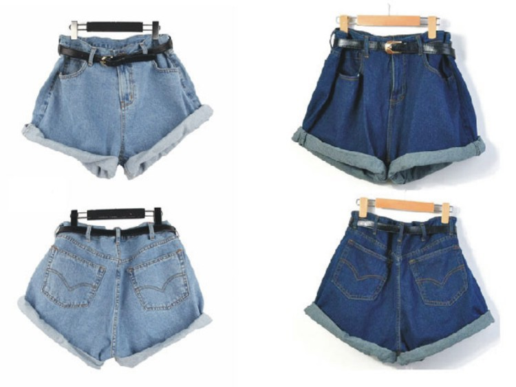 Shorts Summer Casual High Waist Baggy Shorts Women High Waisted Denim Shorts Plus Size Elastic Waist Jeans Shorts For Women Loose Rated 1/5(1).
