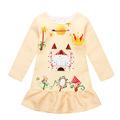 Girls Dress 2016 Autumn Winter Fashion Print Pattern Princess Dress Kids Clothes Party Dress infant Girls