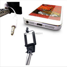 Wired Selfie Stick Monopod Extendable Handheld Built in Shutter Audio Cable camera Monopod tripod For Iphone