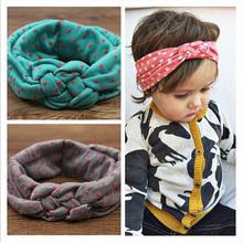 Da criança do bebê macio menina crianças cruzar Hairband Turban malha nó cabeça Headwear faixas de cabelo cabelo acessórios w – 146