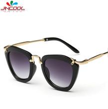 JinCool 2016 Fashion Cat Eye Kids Sunglasses Lovely Girls Boys Eyewear Baby Sun Glasses for Children