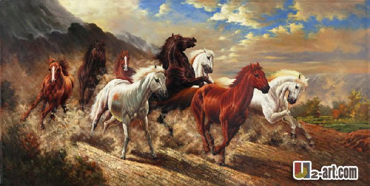 Achetez en Gros huit chevaux peinture à l'huile en Ligne à