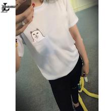 Dámské volné tričko ve stylu harajuku