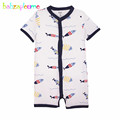 babzapleume Brand 3 24M Newest 100 Cotton Baby Rompers Cute Print Newborn Infant Jumpsuit Overall Child