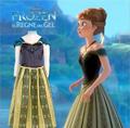 Hot 2016New Girls Kids Anna And Elsa Embroidery Dress Pattern Party Princess Cinderella Girl Dresses Kids