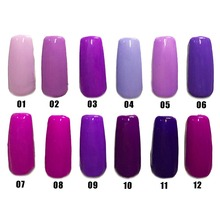 Free shipping Noble purple series 6 pcs MIJIQUAN gel nail polish 15ml 12 colors for choice