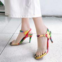 Большие размеры 11, 12, 13; босоножки на высоком каблуке; женская обувь; женские летние прозрачные Босоножки с открытым носком(Китай)