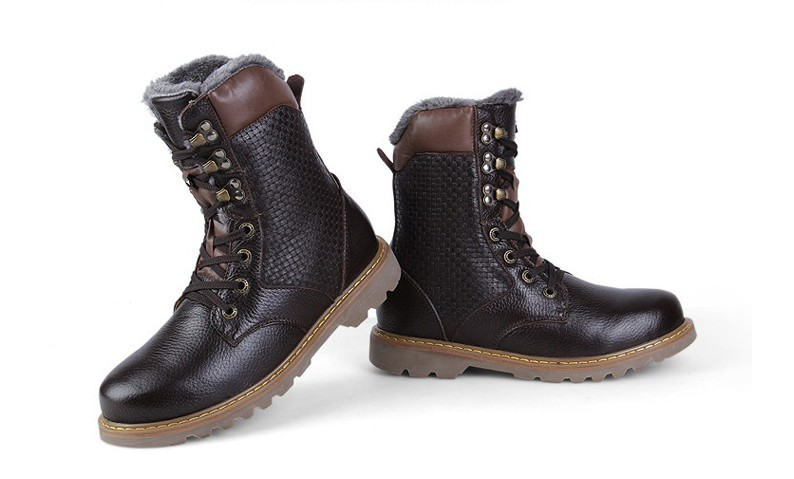 Mens winter boots 2015 best quality genuine leather High boots . 4ce3ab410