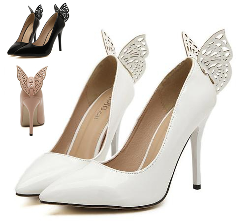 White-Butterfly-Wedding-Shoes-Women-Shoes-Sexy-High-Heels
