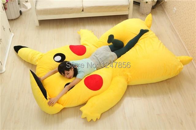 Japan Anime Pikachu Sleeping Bag Pikachu Cartoon Mattress