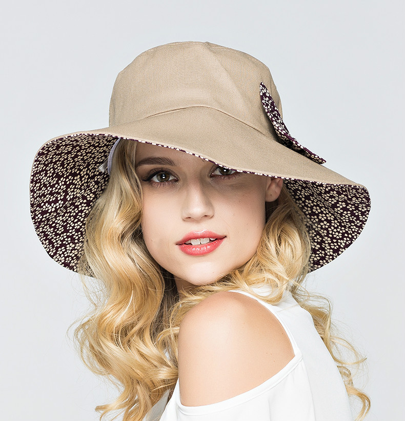 5d4a890c Summer Large Brim Beach Sun Hats for Women UV Protection Hat Women with Big  Heads Foldable Style Fashion Lady\`s Sun Beach Hats model number:O-2168