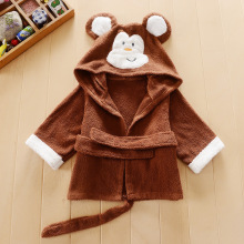 2016 Cartoon Kids Boys And Girls Cartoon Cotton Towels With Hood Baby Bath Towel Bathrobe For