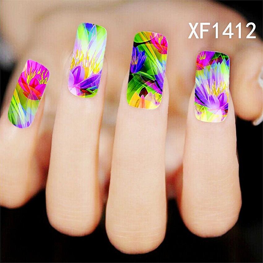 2016 women Nail Art Flower Water Tranfer Sticker Nails Beauty Wraps Foil Polish Decals Temporary Tattoos