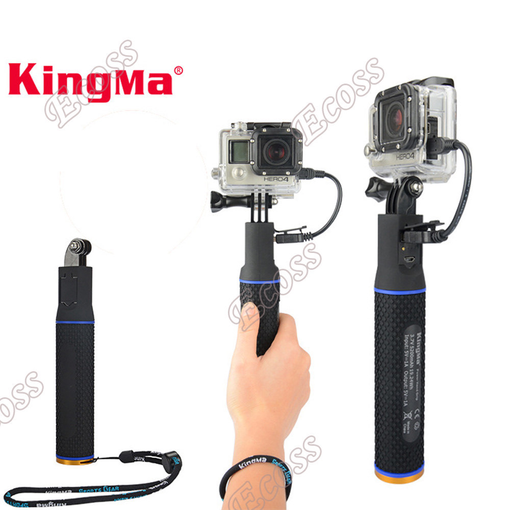 Gopro Hero 4/Hero 3+/Hero3 Battery Power Hand Grip Handheld Rechargeable Pole