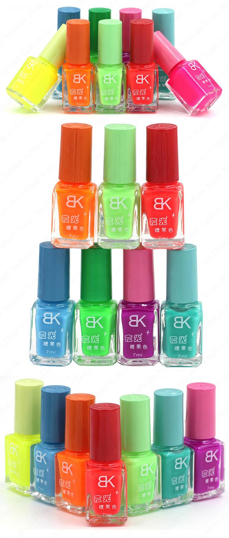 Non Toxic Fluorescent Neon Luminous Gel Oil Nail Polish