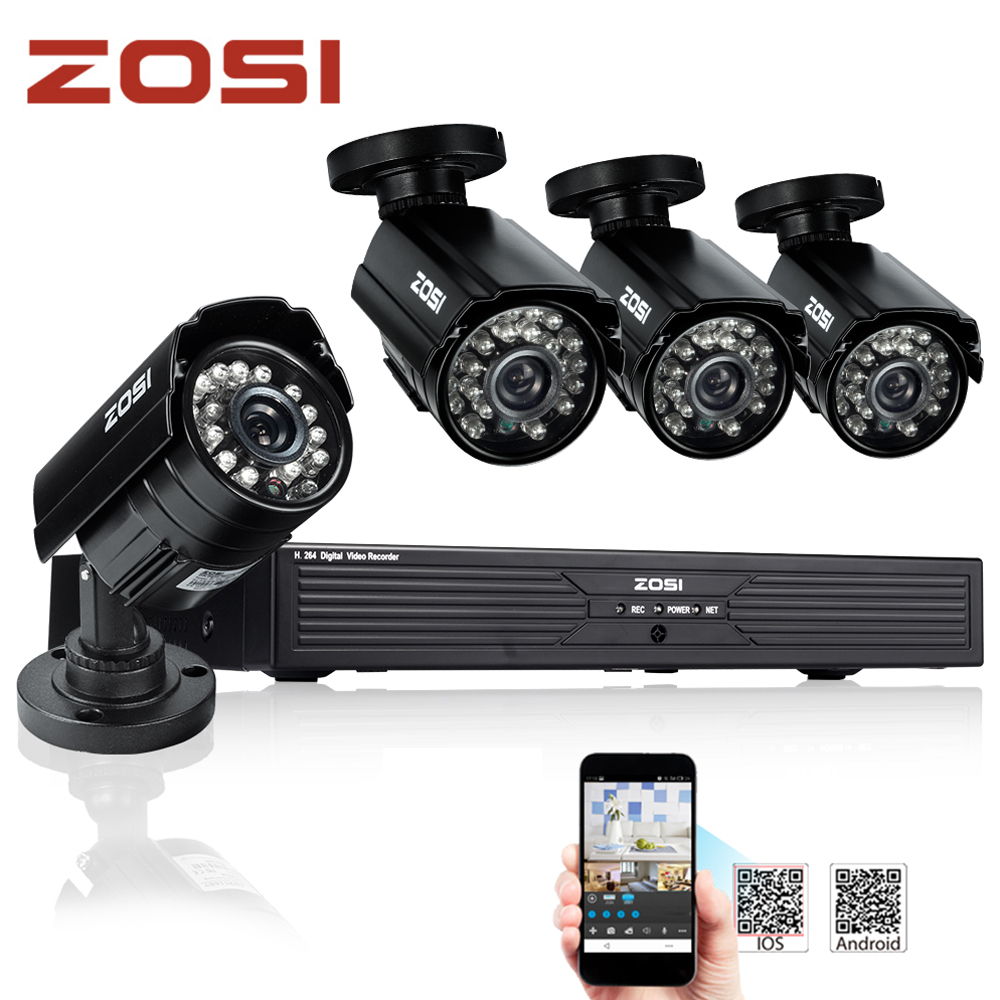 New Arrival CCTV Security Camera System Home 960H 4CH Full D1 H.264 DVR 700TVL Day/Night Outdoor Surveillance Video System