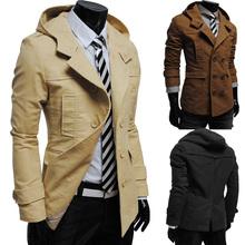 Moderný pánsky kabát s kapucňou z Aliexpress