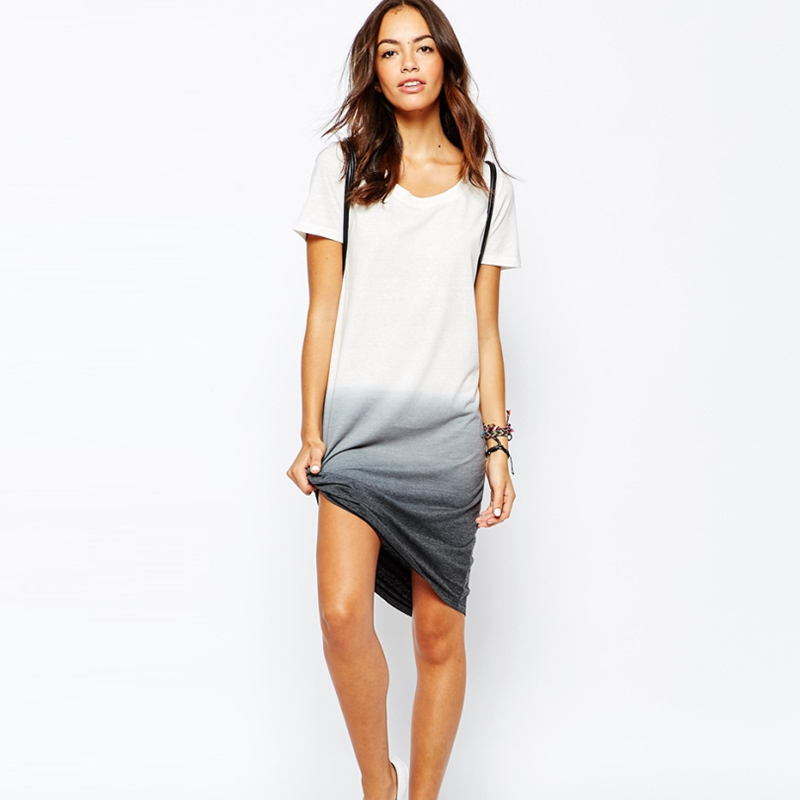 The T-shirt dress is a summer favourite - this one from V by Very is cut with a curve-hugging profile to show off your shape, while the rounded neckline, short sleeves and chest pocket keeps things.