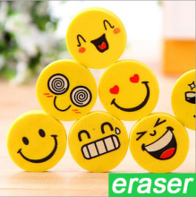 20 Pcs lot Smile Face Erasers Rubber For Pencil font b Kid b font Funny Cute