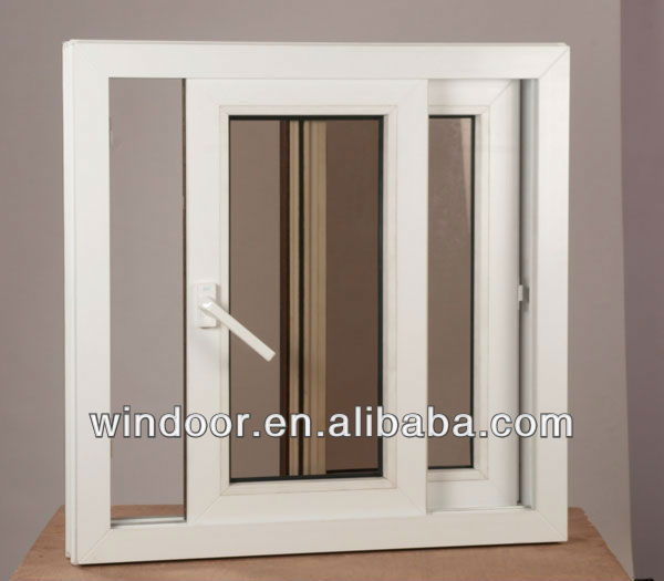 Pvc Sliding Basement Window With Insect Mesh,Track Windows