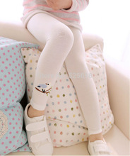 Baby Kid Girl Cotton Pant Embroidery Bird Warm Stretchy Leggings Trousers