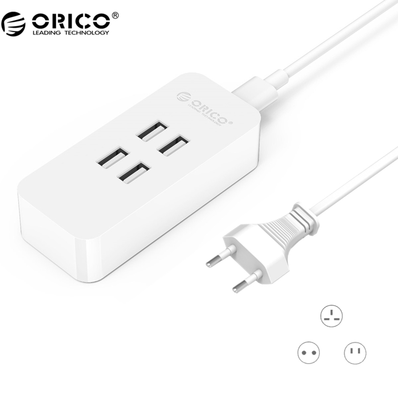 ORICO Recommend 20W 4 Port USB Charger with Fast Charging Technology for Your Phone, Tablet and More - White(DCV-4U-WH)