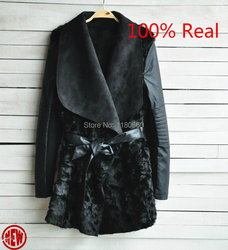 New Hot 2014 European and American Fashion font b Winter b font Fur Coat Women Slim