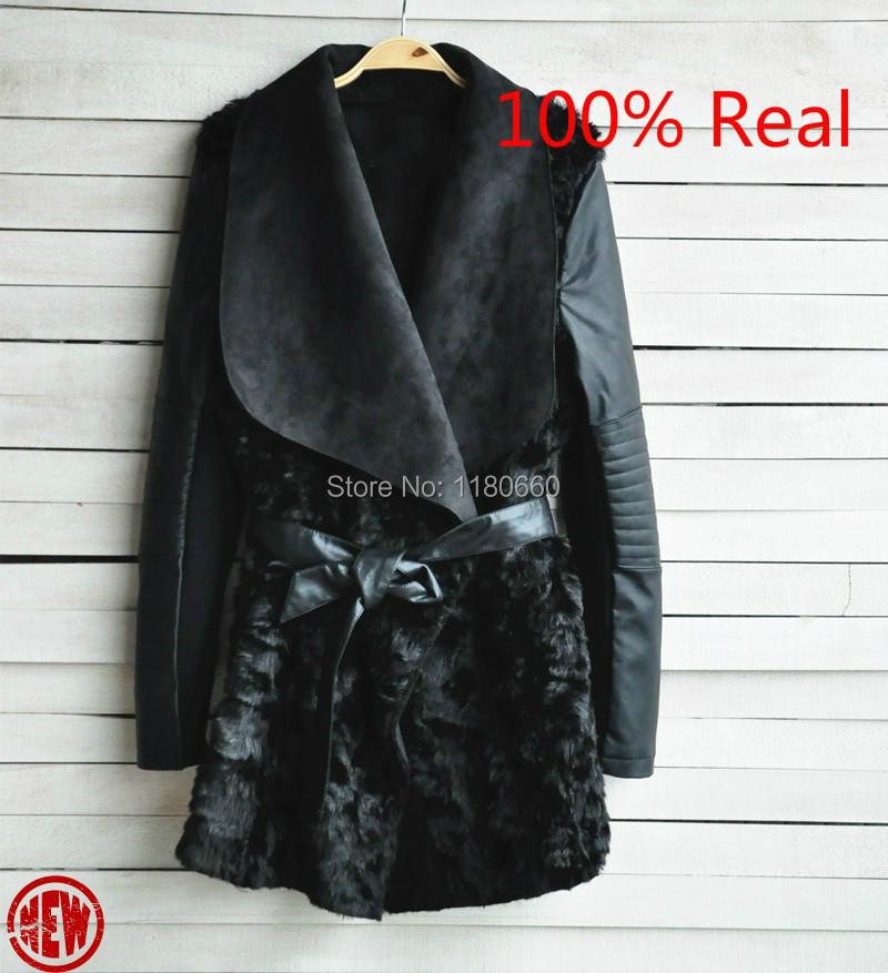 New Hot 2014 European and American Fashion font b Winter b font Fur Coat Women Slim