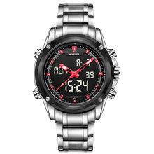 NAVIFORCE люксовый бренд, мужские спортивные армейские военные часы, мужские кварцевые аналоговые светодиодный часы, мужские водонепроницаемы...(Китай)