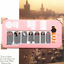 White Black min Mouse child Nail Arts Nail Sticker Waterproof Nail Decal Sticker Gel Polish French