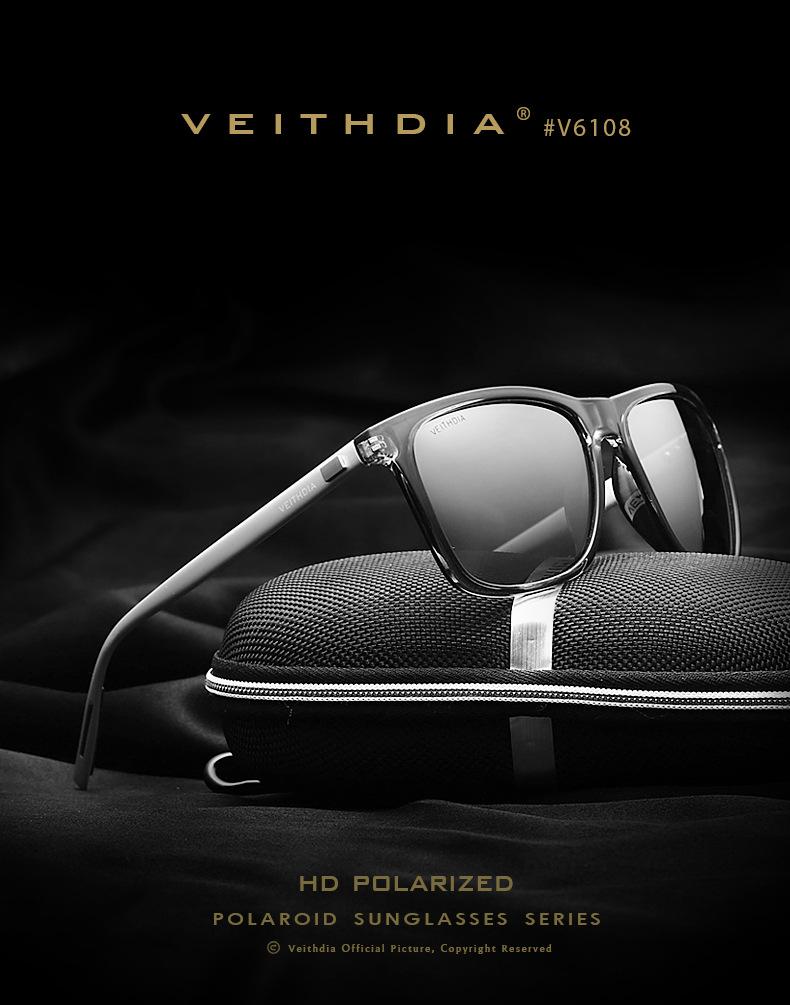 58fa104478 Unisex Aluminum Magnesium Retro Polarized Sunglasses Driving Mirror ...