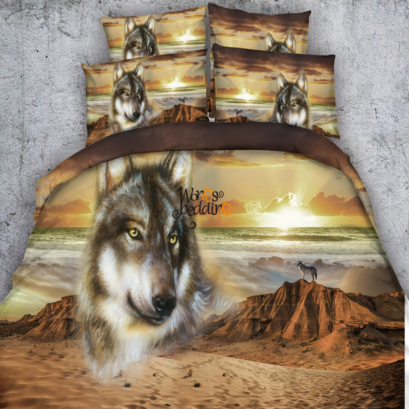 Popular Wolf Bedding Sets Buy Cheap Wolf Bedding Sets Lots