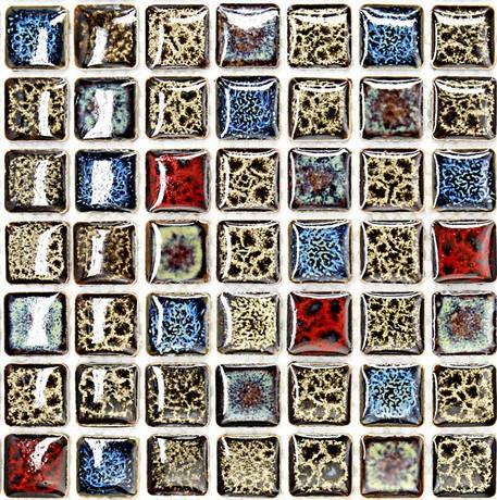 Glazed Ceramic Tile Kitchen Backsplash