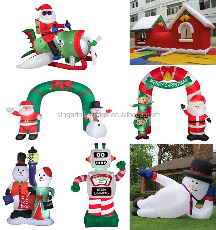 personnalis gonflable arc santa de no l bonhomme de neige neige maison appareil gonflable. Black Bedroom Furniture Sets. Home Design Ideas