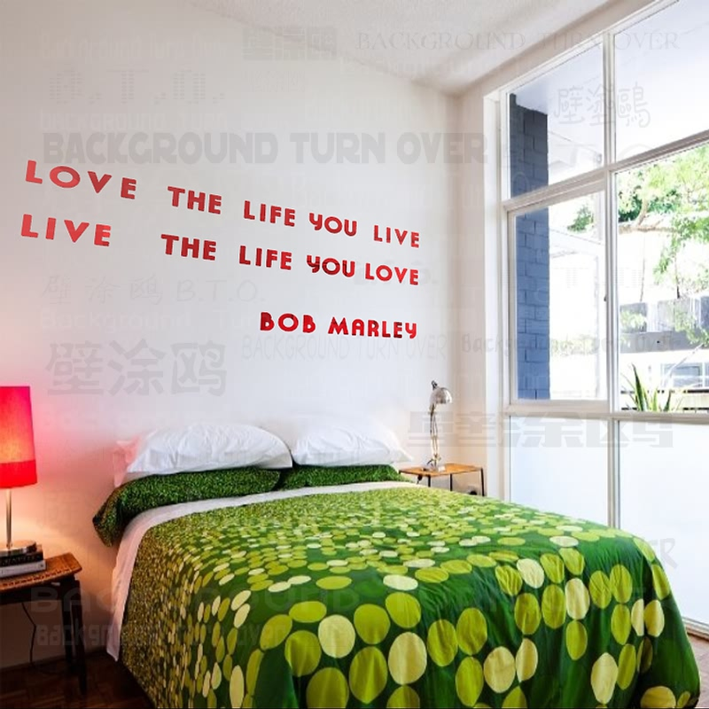 Bob Marley DIY inspirational quotes acrylic mirror decorative letters wall decals quotes home bedroom decor HYR-005