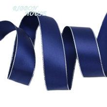 (10 ярдов/партия) двусторонняя Серебряная кромка печатная сатиновая подарочная лента свадебные кружевные тканевые ленты оптовая продажа(Китай)