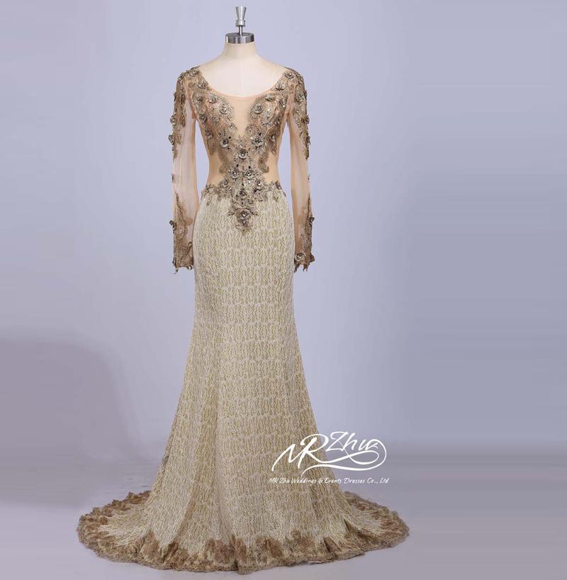 2015 New Elegant Full Long Sleeves Mermaid Wedding Dresses: Fashion Unique Design 2015 New Real Sample Long Sleeve